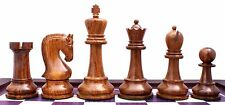 "Leningrade Series Premium Staunton 4"" Chess Set in Shesham Wood & Box Wood"