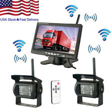 2 X Wireless Rear View Backup Camera Night Vision + 7