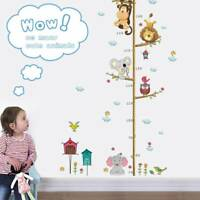 Lion Monkey Owl Jungle Animals Height Measure Sticker Kids Room Decor Decals Art