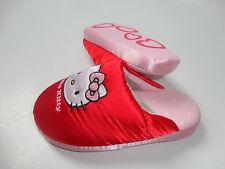 NEU H&M Hello-Kitty Pantolette Hausschuhe Schuhe Gr.28/29 rot-rosa mit Tasche