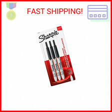 Sharpie Retractable Permanent Markers Ultra Fine Point Black 3 Count Sta