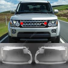 2014-2016 For Land Rover Discovery 4 LR4 Pair Front Headlamp Lens Cover + Glue