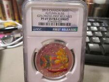 2013 CANADA $20 AUTUM BLISS COLORIZED FIRST RELEASES NGC PR69UC 025