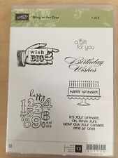 Stampin Up Bring On The Cake Set 1 with 6 Stamps in case