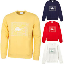 Lacoste Men Sweater FLEECE CREW NECK SWEATSHIRT LACOSTE SH8807 NEW