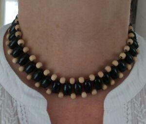 Wooden Tribal Fashion Choker Necklace (Black) - FREE POSTAGE!