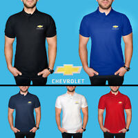 Chevrolet Polo T Shirt COTTON EMBROIDERED Auto Car Logo Tee Mens Clothing Gift