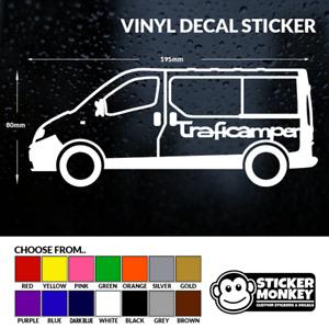 TRAFICAMPER - Renault Trafic Camper / Day Van, Vinyl Decal Sticker – Any Colour!