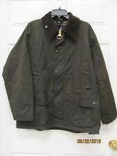 Barbour Classic Bedale Jacket Men's 40 Olive Waxed Cotton Tartan Lining