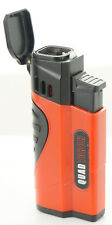 Quad Jet Torch Lighter Butane Refillable Windproof Flame w/ Cigar Puncher 432QS