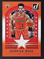 2015-16 Donruss Superstar Swatches #9 Derrick Rose Jersey /149 - NM-MT