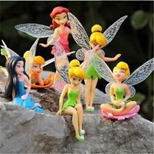 6x Tinkerbell Fairy Birthday Figure Cake Topper Figurine Garden Decor Toys SP