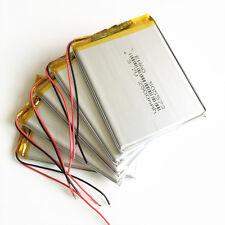 5 pcs 3.7V 2500mAh 505573 Lipo polymer Battery For GPS power bank PAD Cell phone