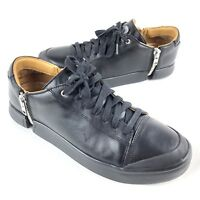 Diesel Mens Zip-Round S-Nentish Low-Sneakers Black Leather Size 12.5 D763558