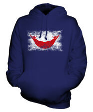 EASTER ISLAND DISTRESSED FLAG UNISEX HOODIE TOP GIFT  CLOTHING JERSEY