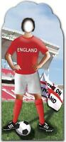 ENGLAND FOOTBALLER WORLD CUP 195cm STAND-IN CARDBOARD CUTOUT Party Theme Footie