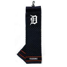 "MLB Detroit Tigers Golf Towel Embroidered Tri-Fold 16"" x 25"" Course Club"