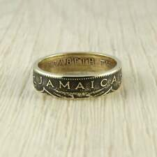 Coin Ring Jamaica Handmade Unique Vintage