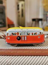Antikes blechspielzeug, kleiner Bus zum aufziehen