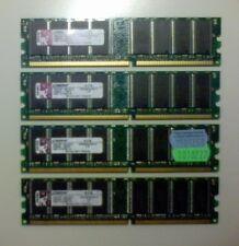 4GB - 1GB x 4 DIMMs KINGSTON DDR KVR400X64C3A/1G PC3200 400MHz CL3 184p 2.6V