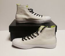 Converse Chuck Taylor High Top Canvas Shoes 153531C White Volt Mens Size 11