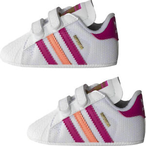Adidas Kids Toddlers Superstar Baby Trainers Retro Sneakers Casual Shoes White