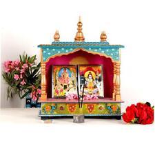 Wooden Hand Painted Hindu Temple Mandir Pooja Ghar Mandapam Worship Art - 38