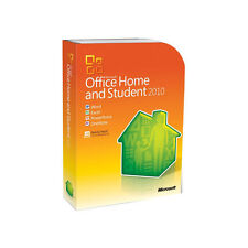 Microsoft Office Home and Student 2010 Licensed for 3 PC's Family Pack Retail!!