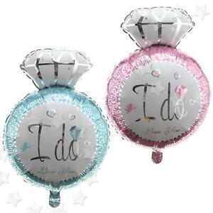 I Do Diamond Ring Balloon, Large Mylar Foil Balloon, Pink or Blue I Do Ring