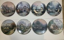 8 Thomas Kinkade Garden Cottages of England Decorative Collector's Plates 8 3/8""