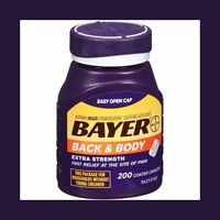 Bayer Back & Body Extra Strength Aspirin/Pain Reliever Coated Caplets, 200 count