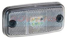 12V 24V VOLT WHITE LED REFLECTIVE FRONT MARKER POSITION LAMP LIGHT + 500MM CABLE