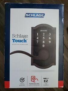 Schlage Touch Keyless Lever~Aged Bronze