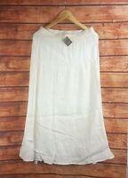 New J J ill White Long Linen Pintucked Maxi Skirt - All Sizes