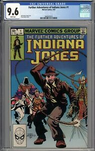The Further Adventures of Indiana Jones #1 CGC 9.6 NM+ WHITE PAGES