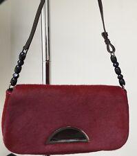 New! Christian Dior Red Fur Saddle Bag