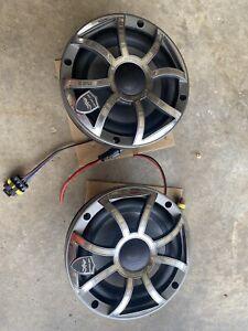 "Wet Sounds Refurb REVO 6-XSG-SS GunMetal XS Stainless 6.5"" Marine LED Speakers"