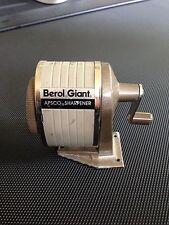 VINTAGE BEROL GIANT APSCO PENCIL SHARPENER WORKS USED