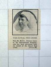 1917 Miss M Bowie Theatre Sister Metropolitan Hospital Decorated Royal Red Cross