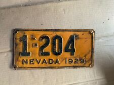 Nice Original 1929 Nevada License Plate
