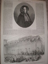 Autore Harriet Beecher Stowe 1853 old print REF T