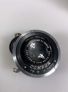Zeiss Tessar 105mm f4.5 in working Compur shutter Restraining ring