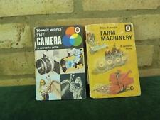 2 Vintage Ladybird book How it works series Farm Machinery , The Camera