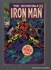 Iron Man 1 Marvel Comic Book 1968 Bold colors!