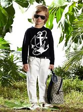 New Authentic Gucci White Jeans Pants w/Signature BRB Web, 6, 281267