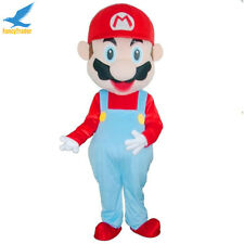 Super Mario Mascot Costume EPE Cartoon Fancy Dress Outfit Adult Prop Performer