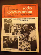 SEPT 1976 RADIO COMMUNICATION MAGAZINE (RADCOM)