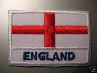 England Flag Iron On / Sew On Cloth Patch Badge English St Saint George's Cross