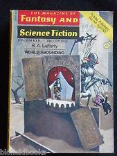 Vintage Magazine of Fantasy & Science Fiction - December 1971, Isaac Asimov (SF)