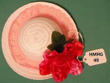 """White Hat, Pink Lace & Flower 22"""" Hannah Montana or 18"""" Supersize Barbie HMHG49"""